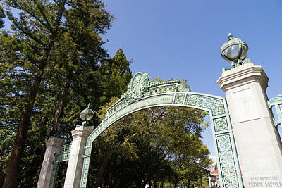 Photograph - University Of California Berkeley Historic Sather Gate Dsc6930 by Wingsdomain Art and Photography