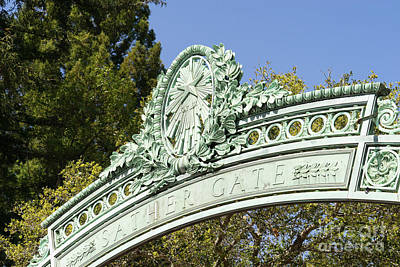 Photograph - University Of California Berkeley Historic Sather Gate Dsc6931 by Wingsdomain Art and Photography