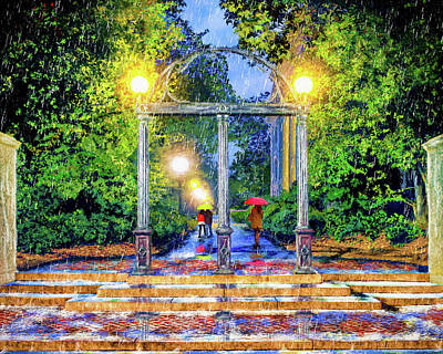 Painting - The Arch - University Of Georgia North Campus by Mark Tisdale