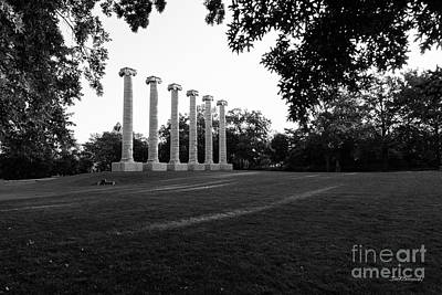 Photograph - University Of Missouri The Columns by University Icons