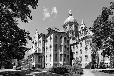 Big Bend Wall Art - Photograph - University Of Notre Dame Main Building by University Icons