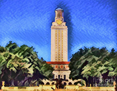 Photograph - University Of Texas Tower Austin Texas A8-2 by Ray Shrewsberry