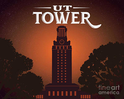 Photograph - University of Texas Tower by Austin Welcome Center