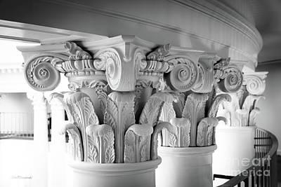 Photograph - University Of Virginia Rotunda Column Capitals by University Icons