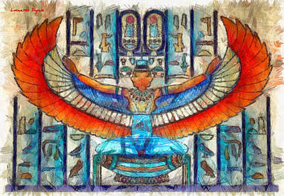 Amy Hamilton Animal Collage - Unlikely Egypt - PA by Leonardo Digenio