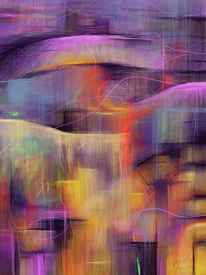 Digital Art - Untitled Abstract Violet by Phil Vance