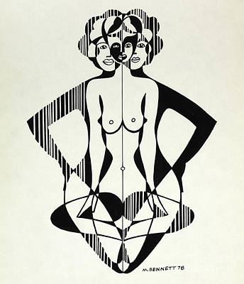Painting - Untitled, Nude Print  by Manuel Bennett