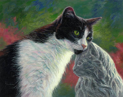 Painting - Unusual Friendship by Lucie Bilodeau
