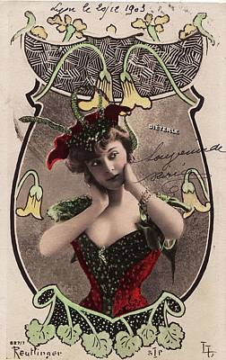 Painting - Unusual Reutlinger Postcard 1 by Celestial Images