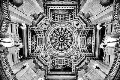 Photograph - Lookimng Up At The Pennsylvania Capital Rotunda by Paul W Faust - Impressions of Light