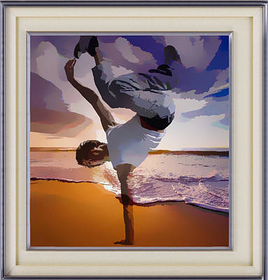 Mixed Media - Up In The Air Dancer by Clive Littin