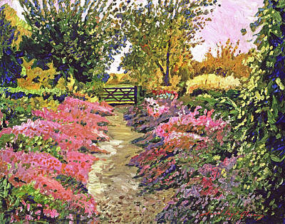 Painting - Up To The Garden Gate by David Lloyd Glover