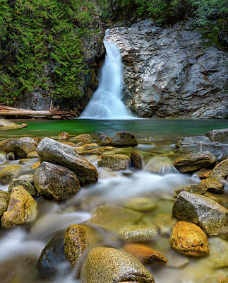 Photograph - Uper Priest Falls And Cascade by Leland D Howard