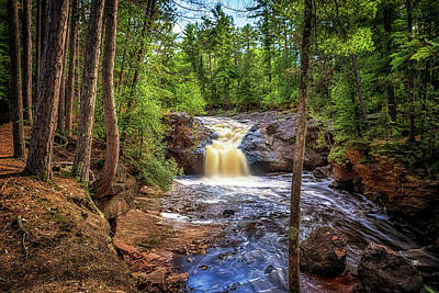 Photograph - Upper Amnicon Falls by Susan Rissi Tregoning