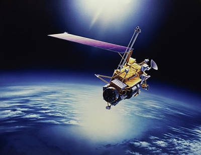 Photograph - Upper Atmosphere Research Satellite Uars by Purestock