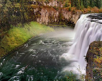Photograph - Upper Mesa Falls by Leland D Howard