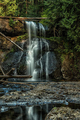 Photograph - Upper North Falls, Late Summer, Vertical by Belinda Greb