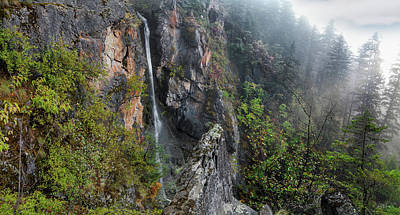 Photograph - Upper Section Of Copper Falls by Leland D Howard