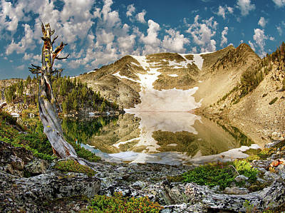 Snow Capped Mountains Wall Art - Photograph - Upper Skytop Lake by Leland D Howard