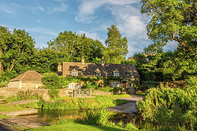 Upper Slaughter, Gloucestershire Art Print by David Ross