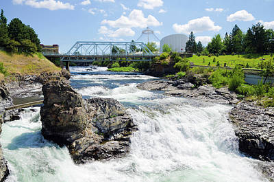 Photograph - Upper Spokane Falls With Howard Street by Gregobagel