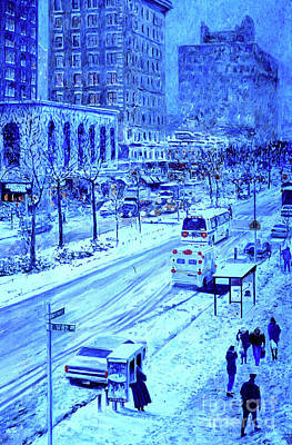 Painting - Upper West Side, Manhattan, Snow,  by Anthony Butera
