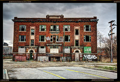 Photograph - Urban Decay building in Detroit by Don Johnston