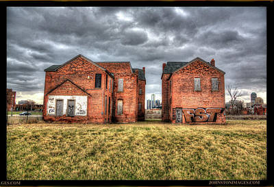 Photograph - Urban Decay houses in Detroit by Don Johnston