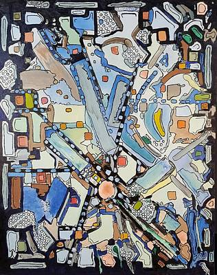 Wall Art - Painting - Urban Planning by Dave Martsolf