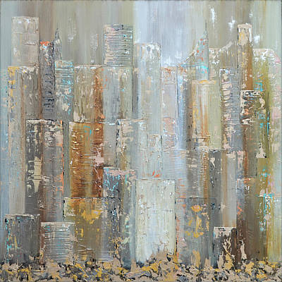 Modern Sophistication Minimalist Abstract - Urban Reflections I Day Version by Shadia Derbyshire