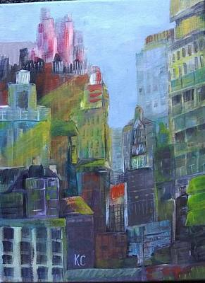 Painting - Urban View by Katherine Cobb