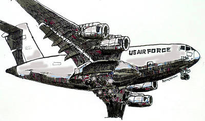 Painting - U.s. Air Force Heavy by Terry Banderas