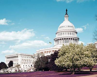 Painting - U.s. Capitol Building, Washington D.c. Original Image From Carol M. Highsmith V3 by Celestial Images