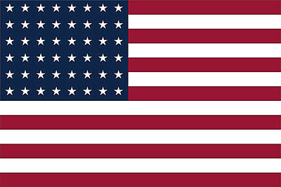 Digital Art - Us Flag by Robert Banach