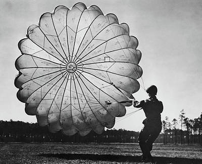 Photograph - Us Paratrooper by Fpg