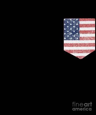 Digital Art - Us Pocket Flag Patriotic by Flippin Sweet Gear
