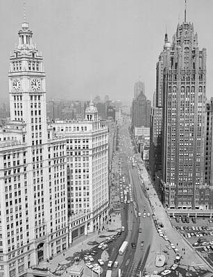 Illinois Photograph - Usa, Illinois, Chicago, Michigan Avenue by Superstock