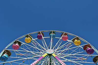 Photograph - Usa, Maine, Fryeburg, Ferris Wheel by Win-initiative