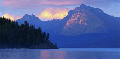 Scenic Photograph - Usa, Montana, Glacier Np, Mountains by Paul Souders