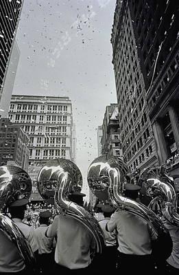 Sousaphone Wall Art - Photograph - Usa, New York City, Marching Band by Ben Edwards