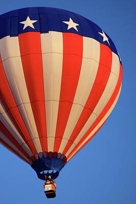 Photograph - Usa Patriotic Hot Air Balloon by Tatiana Travelways