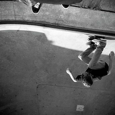 Photograph - Usa, Wisconsin, Skateboarders In Skate by Win-initiative