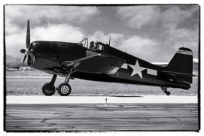 Photograph - Usn Grumman F6f Hellcat by Chris Smith