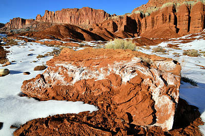 Photograph - Utah Highway 24 In Capitol Reef Np by Ray Mathis