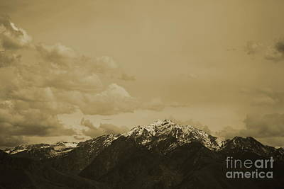 Photograph - Utah Mountain In Sepia by Colleen Cornelius