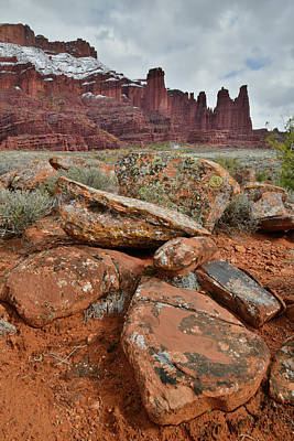 Photograph - Utah's Fisher Towers On Overcast Day by Ray Mathis