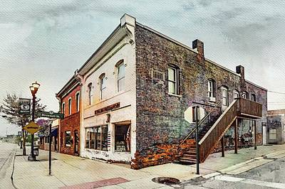 Photograph - Utica Barber Shop Dsc_0330 Watercolored by Michael Thomas
