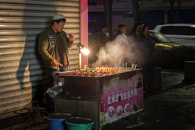 Photograph - Uyghur Street Food Vendor Urumqi Xinjiang China by Adam Rainoff