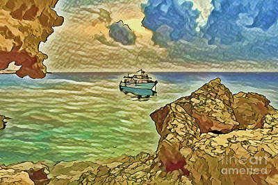 Painting - Vacation Cruise A18-59 by Ray Shrewsberry