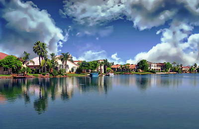 Photograph - Val Vista Lakes by Anthony Dezenzio
